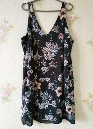 Лёгкое летние платьице туника в цветочный принт большого размера george