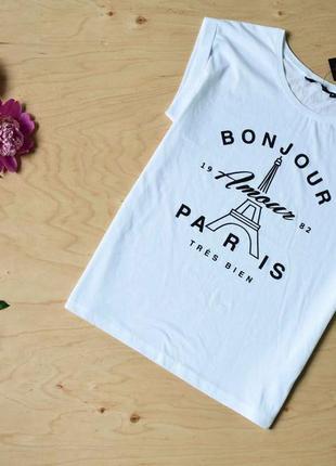 Новая белая футболка большого размера new look