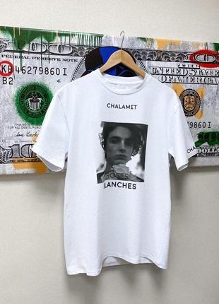 Дизайнеская белая футболка chalamet