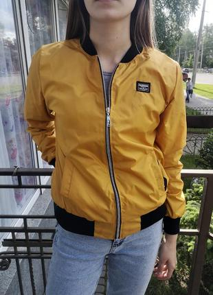 Базовая женская куртка бомбер, есть большие размеры