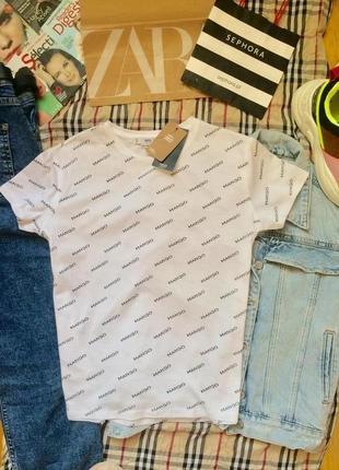 Трендовая базовая футболка mango hm