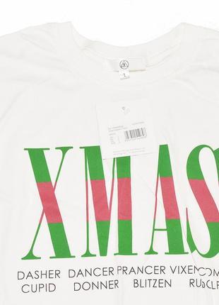 Новая белая свободная футболка x-mas missguided5 фото