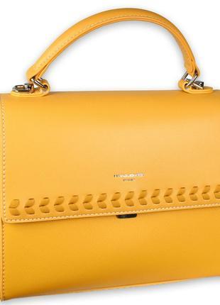Стильная и очень удобная сумочка david jones в желтом цвете