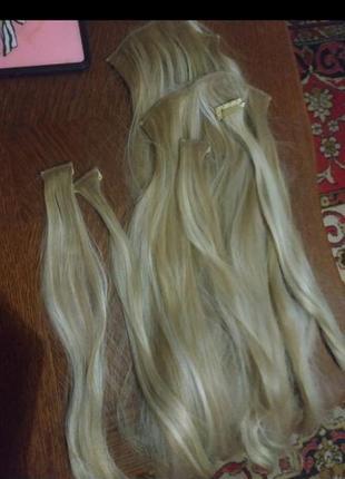 Трессы волосы на заколках, искусственные волосы