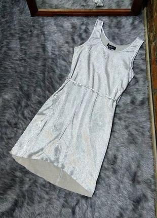 Sale платье с эффектом металлик amisu