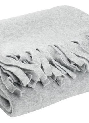Плед флисовый 130x170см светло - серый , недорого