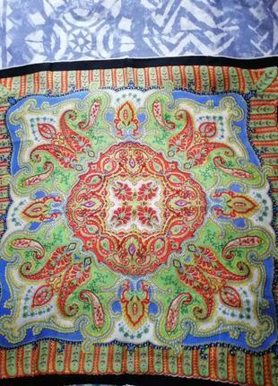 Шёлковый платок,декор на сумку, шов роуль.