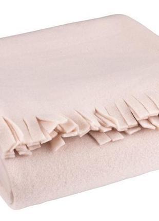 Плед флисовый 130x170см нежно розовый