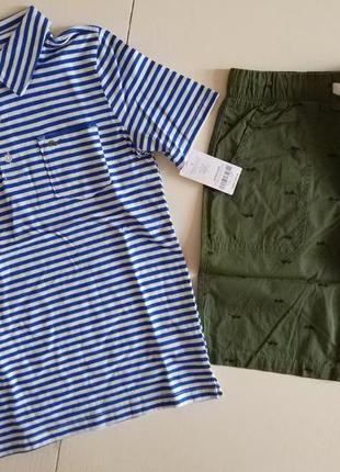 Костюм футболка поло и шорты carters америка 7-8 лет 128-136 см4 фото