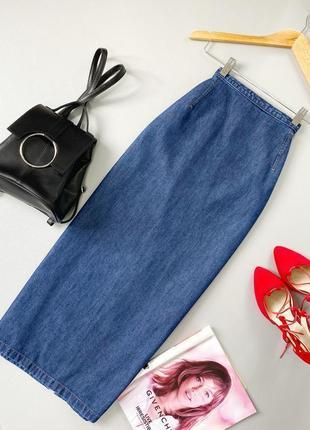 Роскошная юбка миди из джинса marks&spencer