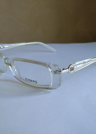 Фирменная прозрачная оправа под линзы, очки iceberg ic055
