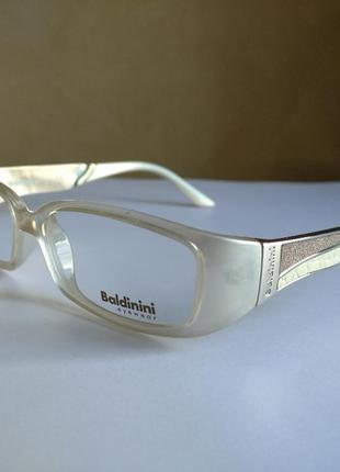 Брендовая молочная оправа под линзы, очки baldinini gm301