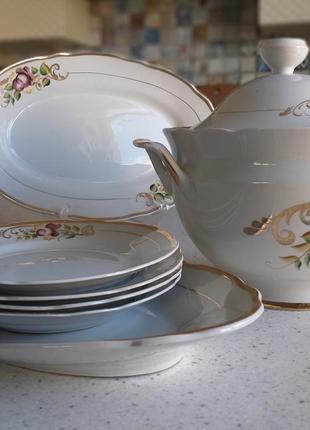 Набор столовой посуды 9 предметов с супницей