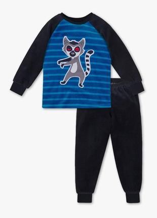 Детская велюровая пижама для мальчика 3-4 года c&a германия размер 104