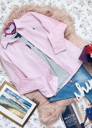 Суперклассная розовая базовая рубашка от polo ralph lauren