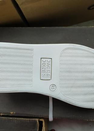 Кожаные кроссовки / мокасины / сникерсы  jack & jones6 фото