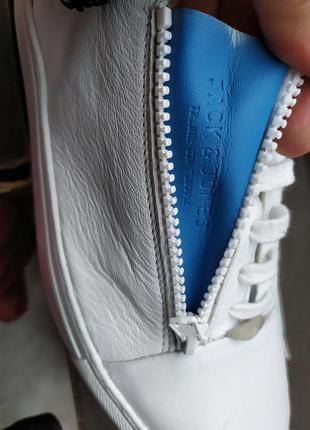 Кожаные кроссовки / мокасины / сникерсы  jack & jones7 фото