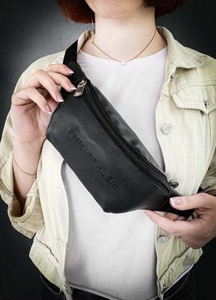 Трендовая новая шикарная сумка на пояс бананка кожа pu philipp / сумка через плече