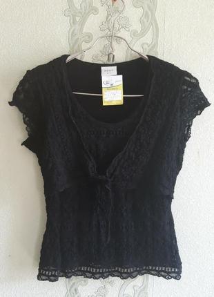 Кружевная стрейч блуза