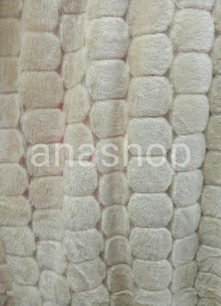 Бамбуковый плед соты, покрывало камушки, мягкая и пушистая простыня