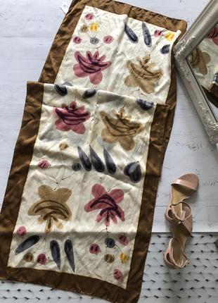 Шелковый шарф 100% шёлк ручная работа