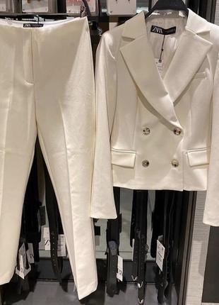 Костюм брючный двубортный пиджак блейзер zara оригинал