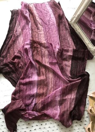 Большой шарф палантин 100% шёлк индия