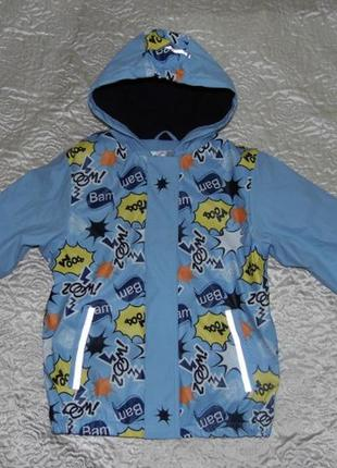 Куртка дождевик на флисе мальчику - lupilu 122-128/6-8 лет - германия