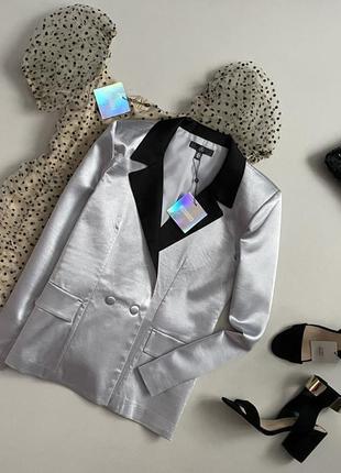 Новый шикарный двубортный пиджак / блейзер missguided