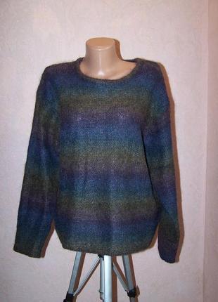Радужный свитер dress barn 48%мохер