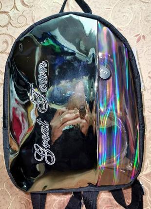 Маленький зеркальный рюкзак