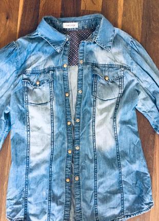Джинсова рубашка orsay