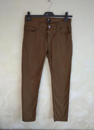 Коричневые фирменные джинсы, штаны h&m