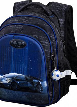 Ортопедический рюкзак для школы, светоотражающий, для мальчика, r2-169