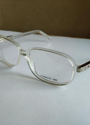 Прозрачная фирменная оправа под линзы,очки cerruti 1881 ce04504 новая оригинал италия