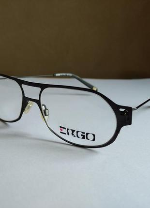 Фирменная металлическая оправа под линзы, очки ergo mu116