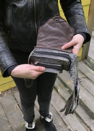 Кожаная сумка на пояс4 фото