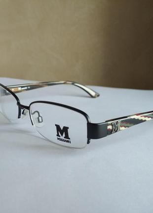 Полуободковая фирменная оправа под линзы очки оригинал missoni mm02205