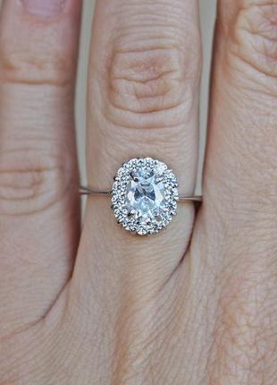 Серебряное кольцо кларис р.17,5