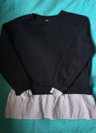 Свитер с имитацией рубашки
