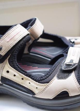 Кожаные босоножки сандали сандалии на липучках ecco экко р.40 26,3 см оригинал