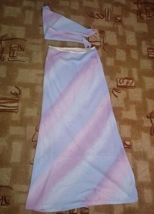 Шифоновая юбка с косынкой