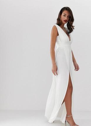 Плиссированное платье asos