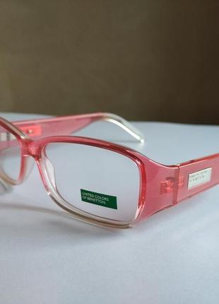 Яркая  фирменная оправа под линзы очки benetton be08903
