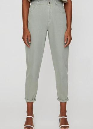 Брюки джинсы слоучи slouchy pull&bear3 фото