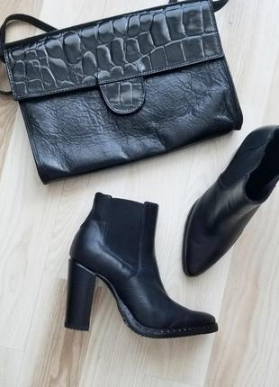 Стильные,кожаные ботинки,ботинки челси,козаки,