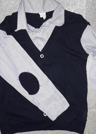Рубашка с жилеткой (обманка)