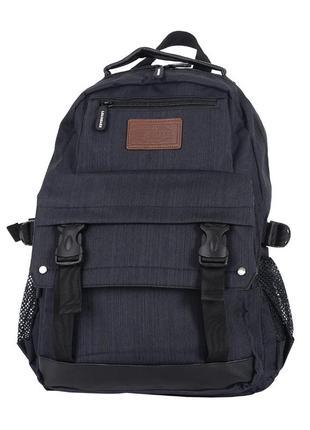 Вместительный темно-серый молодёжный рюкзак. компактный рюкзак для города, учёбы