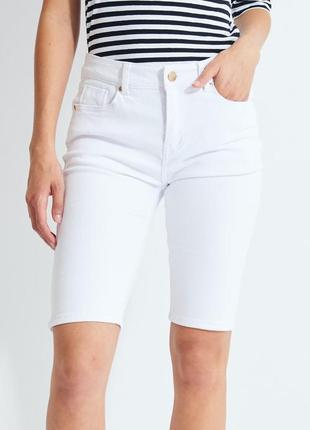 Diesel новые джинсовые белые шорты велосипедки по колено оригинал брендовые качественные