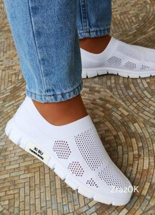 Серые белые летние кеды слипоны кроссовки мокасины сетка текстиль10 фото